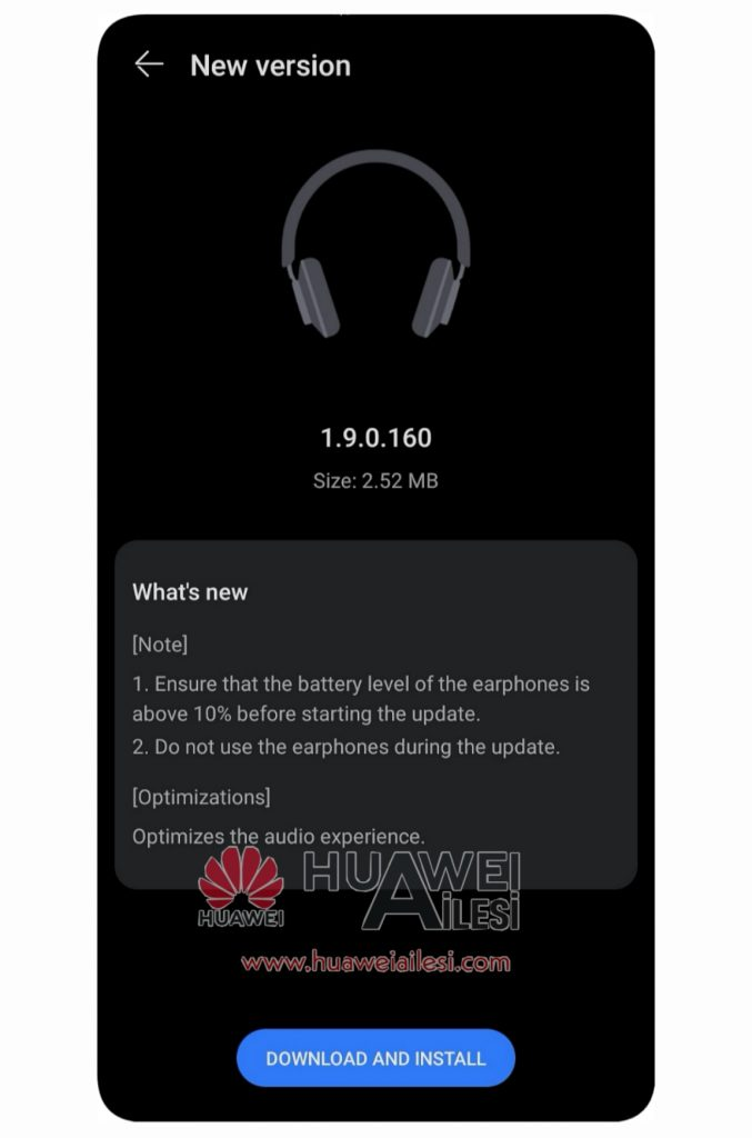Huawei FreeBuds Studio Version 1.9.0.160