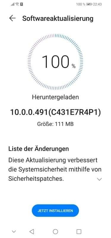 Huawei P30 Lite New Edition EMUI 10.0.0.491