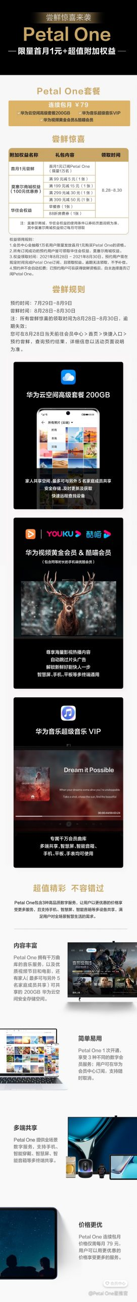 Huawei Petal One Membership