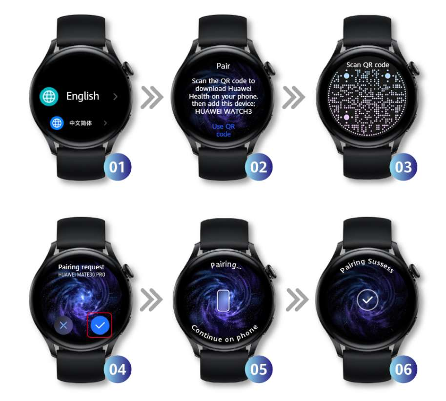 Huawei Watch 3 connecting tips pairing