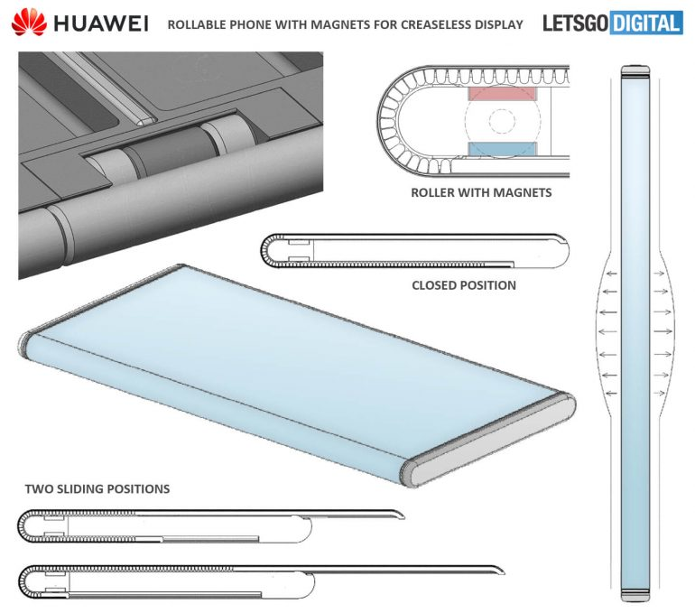 Huawei rollable phone patent