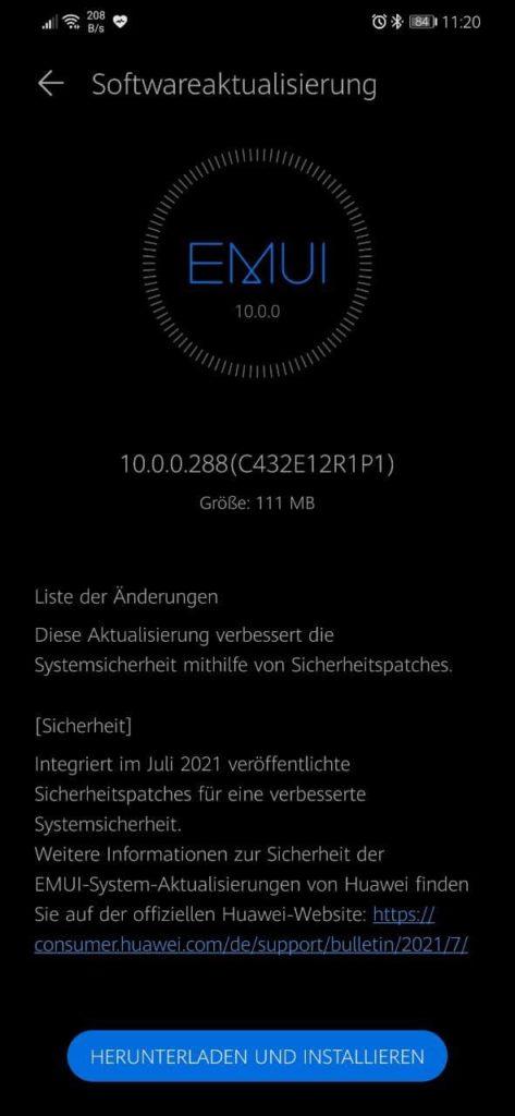 Huawei Mate 20 Lite EMUI 10.0.0.288