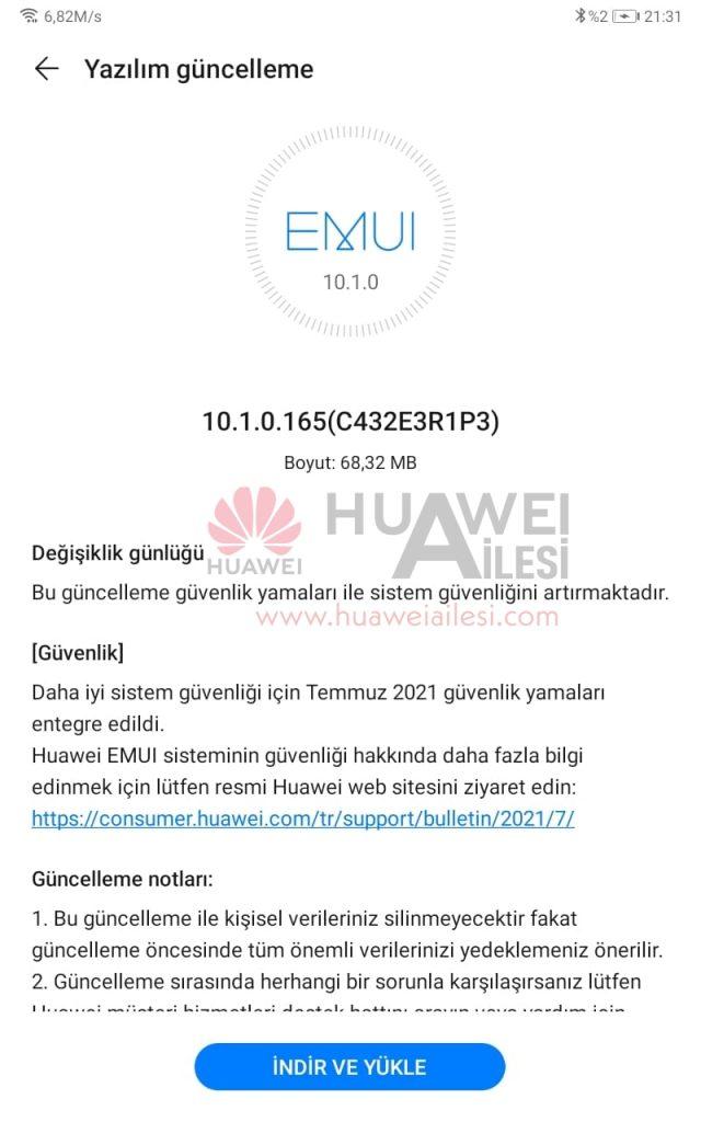 Huawei MatePad T8 EMUI 10.1.0.165