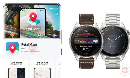 Huawei Watch 3 Series Petal Maps