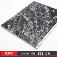 Recyclable Marbling Decorative Ceiling Panels Black PVC ...