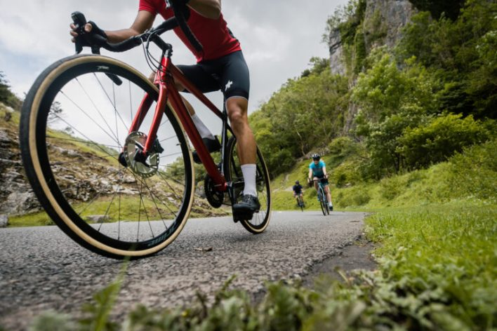 Road cyclists lapping up the miles