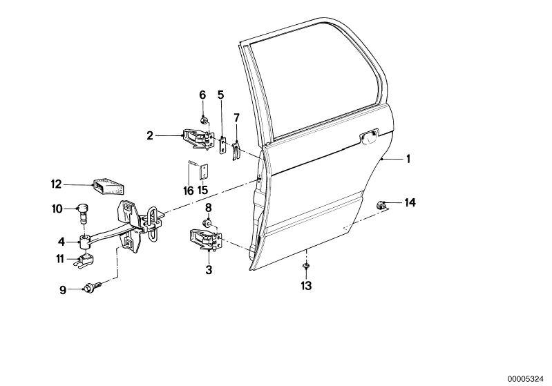 Ersatzteile Karosserie Blechteile 316 4-Türer E30