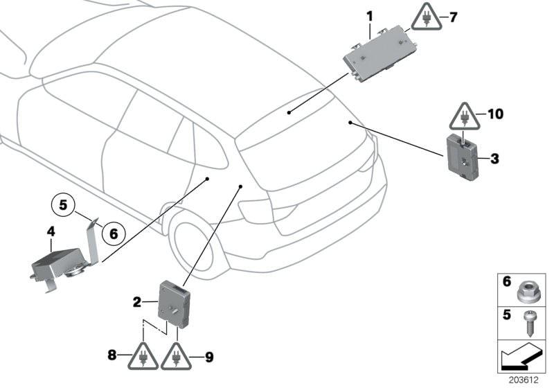 Ersatzteile Audio, Navigation, Elektroniksysteme X1 25dX