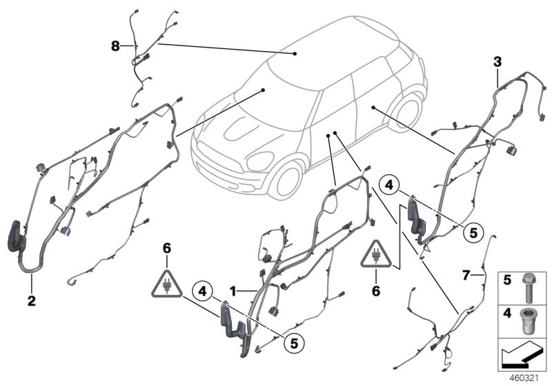 Vehicle electrical system parts Cooper ALL4 Countryman F60