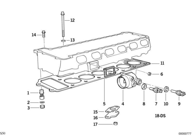 Original BMW Isa screw with washer 5er E12 M6X30-U0-8.8