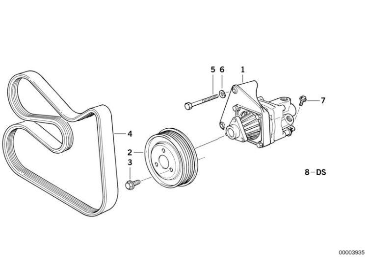 Original BMW Pulley Z8 Roadster E52 diameter = 135MM