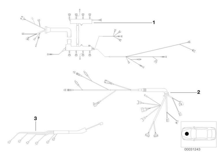 Original BMW Engine wiring harness, periphery module 6er