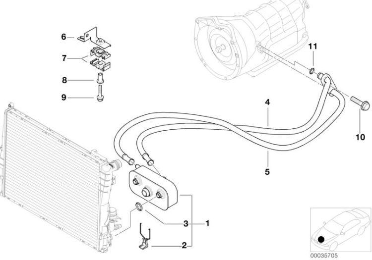 Original BMW Holder with deflection pulley 3er E90