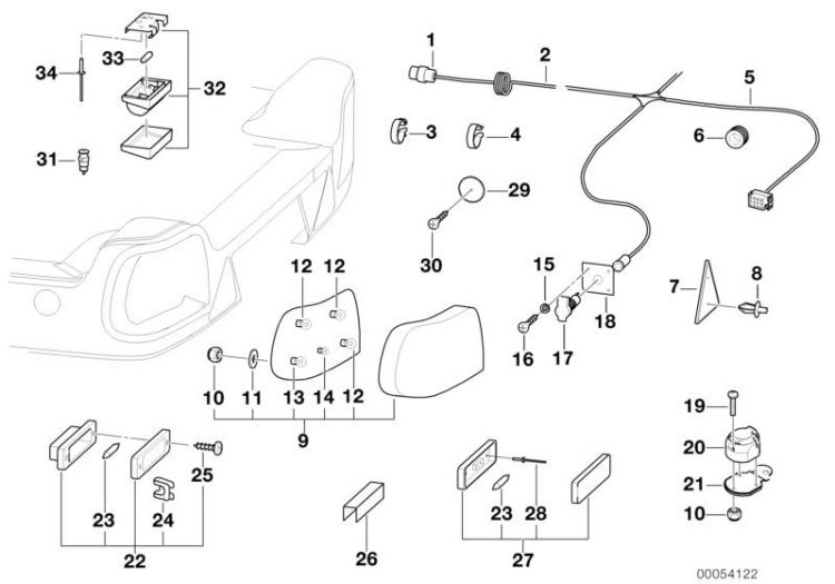 Original BMW Combi. fillister head self-tapping screw 5er
