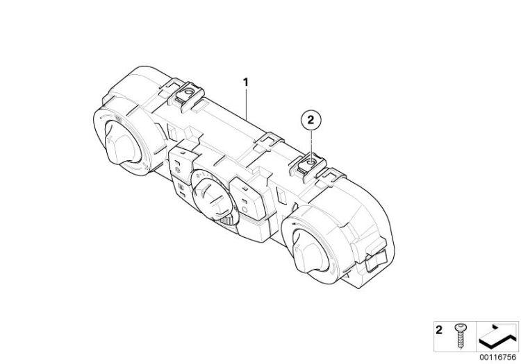 Original BMW Air Conditioning Control Z4 Roadster E89