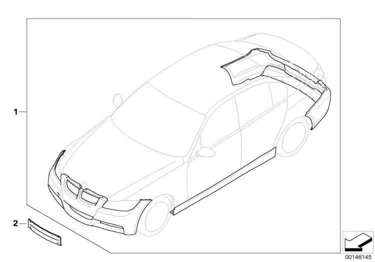 Red E46 M3 Rear Bumper Diffuser
