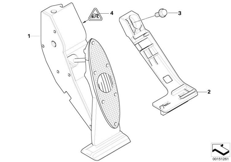 Original BMW Accelerat.pedal module, manual gearboxMini