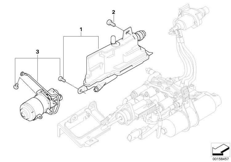 Original BMW Repair kit, hydraulic pump Z4 Coupé E86