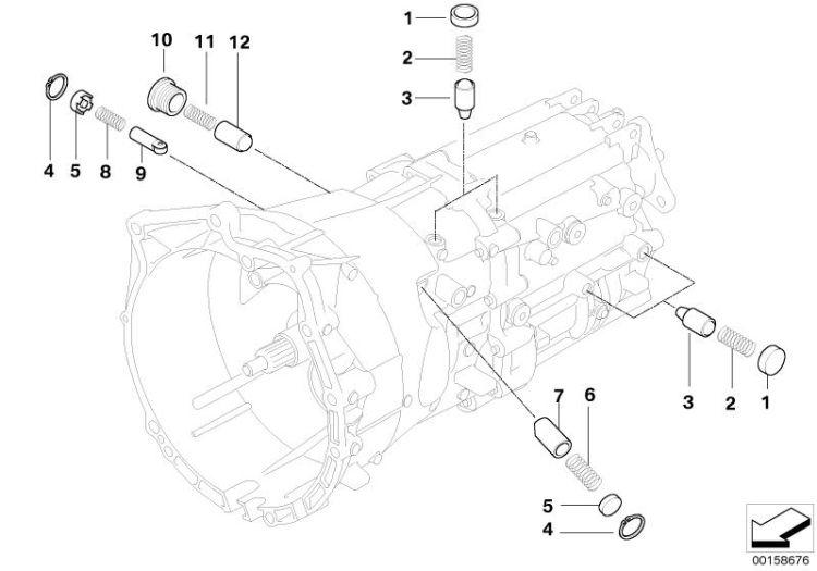 Original BMW Screw plug, inner hexagon Z4 Roadster E89
