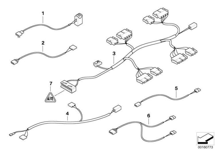 Original BMW Wiring set, seat occupancy identificat. Z8