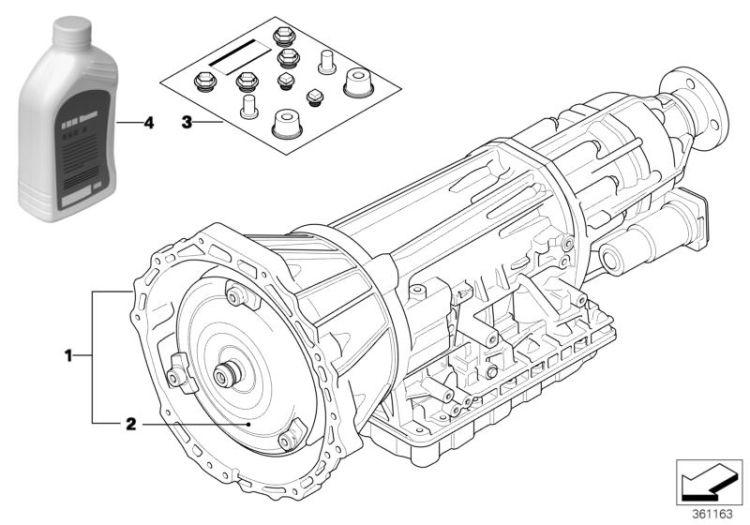 Original BMW Exch. automatic transmission EH 5er E12 A5S