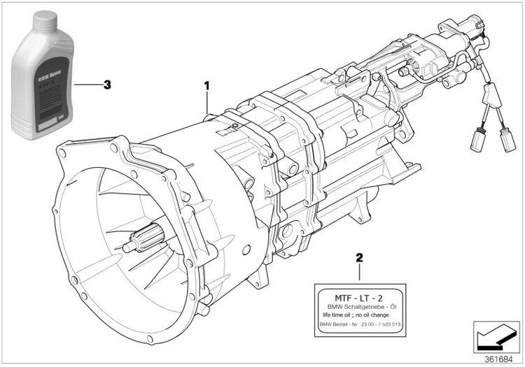 Original BMW Exchange 6 speed sequential gearbox 3er E90