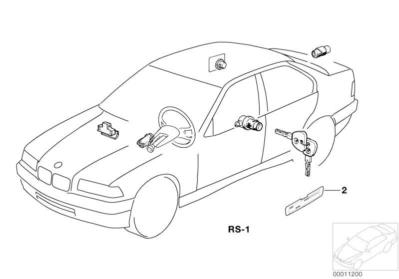 Original BMW REPAIR KIT ONE-KEY LOCKING SYSTEM 7er E23