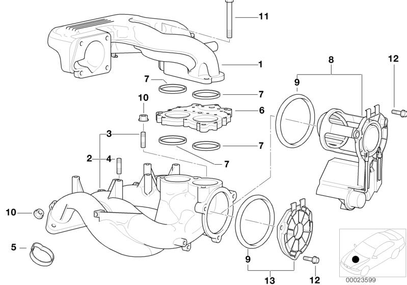 Original BMW Intake manifold system Z8 Roadster E52