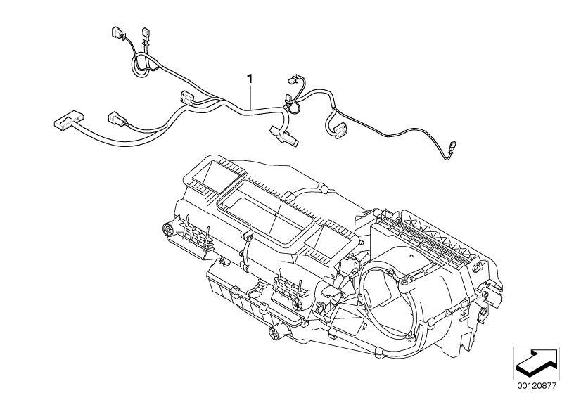 Original BMW WIRING FOR AIR CONDITIONER Z4 Roadster E89