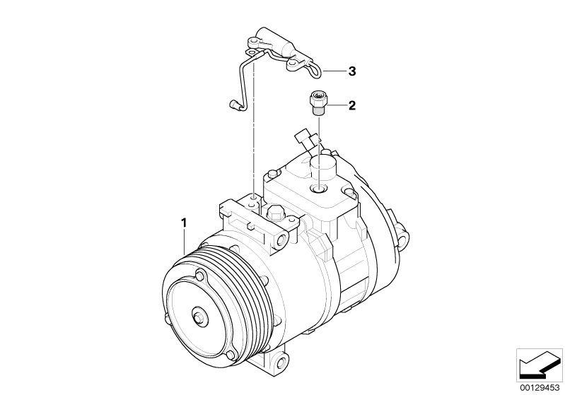 Original BMW RP air conditioning compressor X3 F25