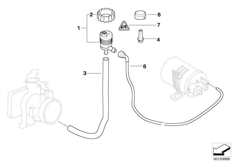 Original BMW Fuel tank breather valve Z8 Roadster E52