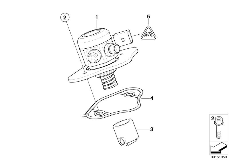 BMW Genuine Engine Cylinder Head Cover Profile Gasket 1 3