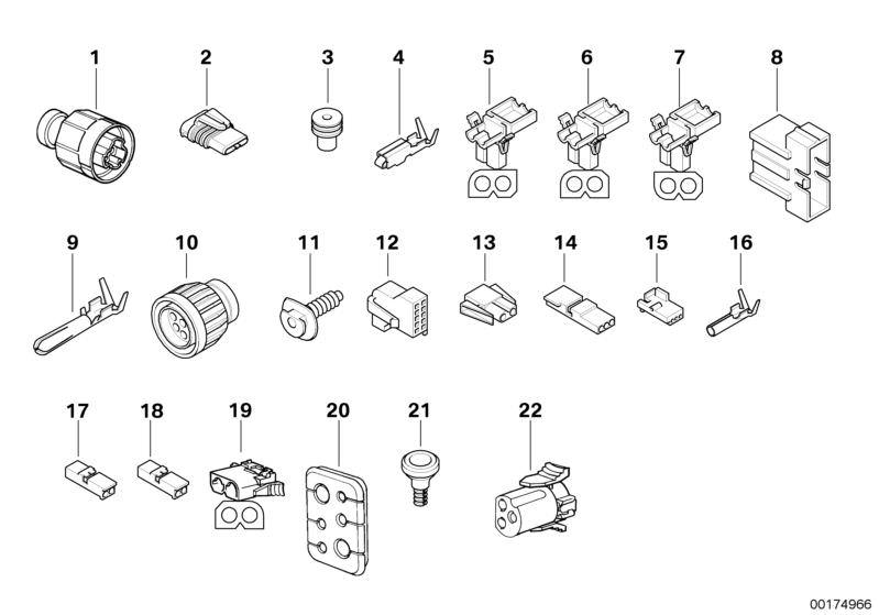 Original BMW Universal socket housing uncoded 5er E12 3