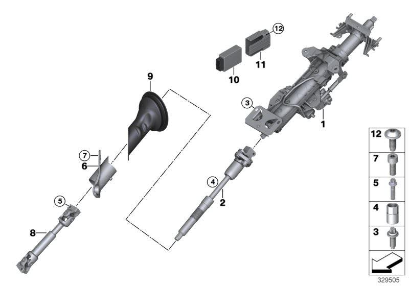 Original BMW Steering column control unit Z4 Roadster E85