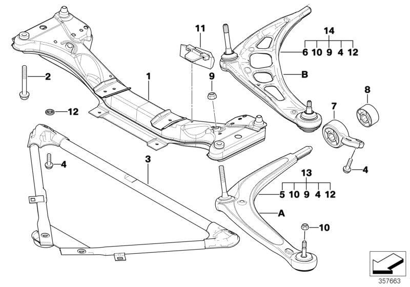 Original BMW Repair kit, wishbone, left 3er E90 VALUE LINE