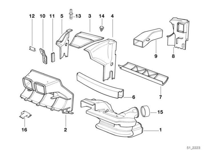 Original BMW Engine compartment screening Z3 Roadster Z3