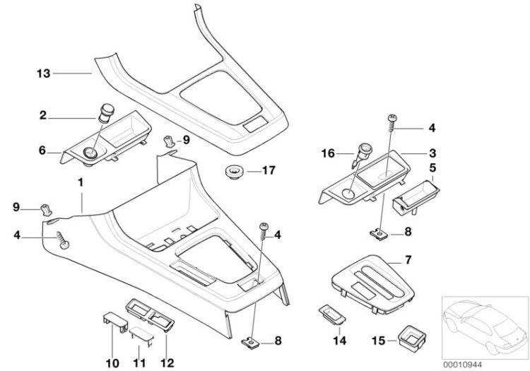 Original BMW Cover, gear selecting lever 5er E12 5HP-18