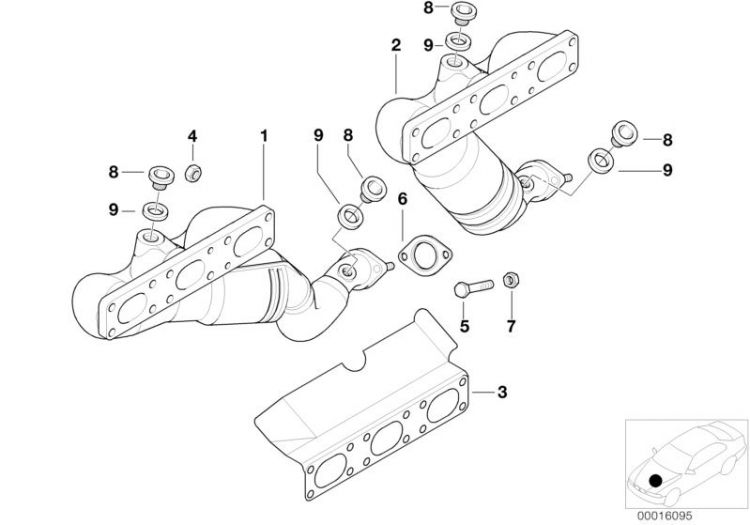 Original BMW Rmfd exhaust manifold with catalyst Z8