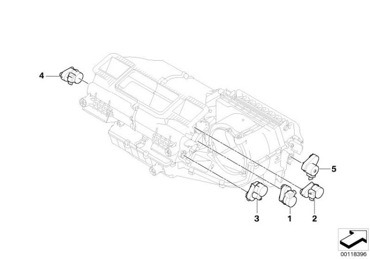 Original BMW Actuator drive, air mixture flap Z4 Roadster