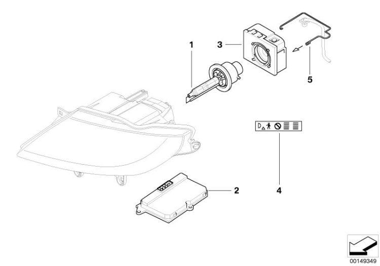 Original BMW Fixing clamp, Xenon cable Z4 Roadster E89