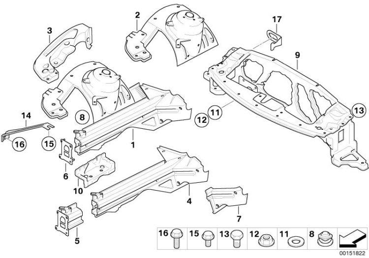 Original BMW Front left wheelhouse Z4 Roadster E89