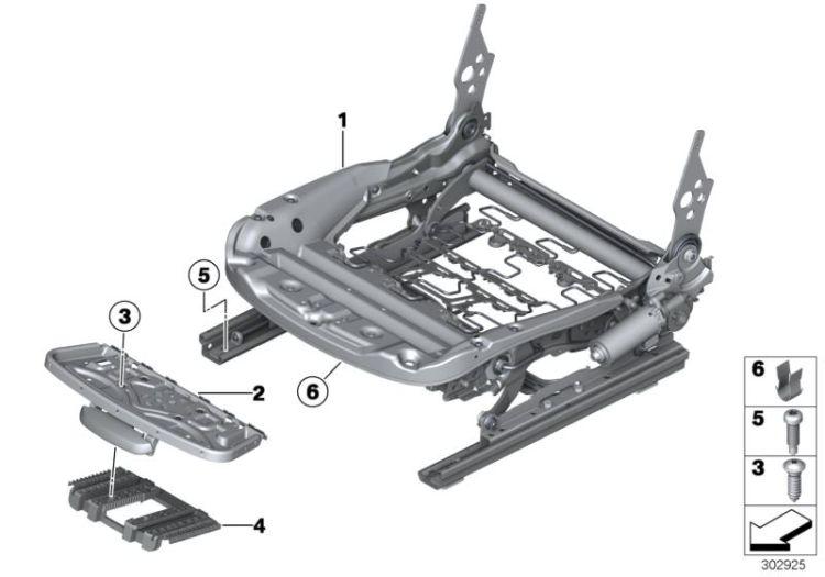 Original BMW Electrical seat mechanism, left X5 E53