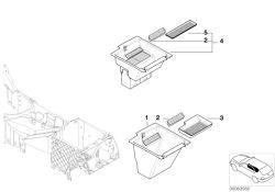 Original BMW Storing partition with cassette box X5 E70