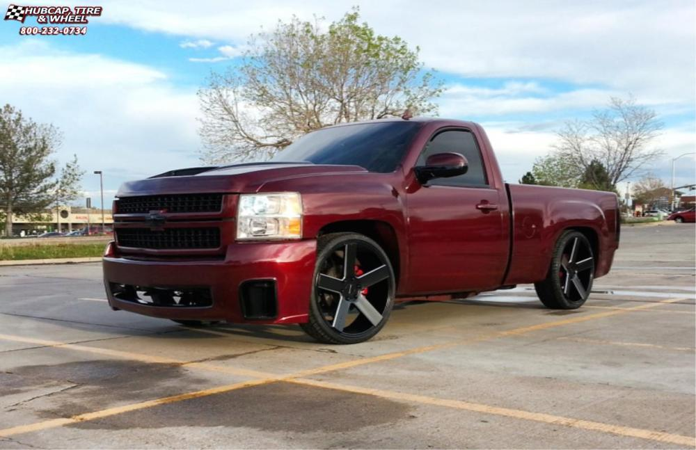 medium resolution of 2014 chevrolet silverado 1500 xd series km690 mc 5 satin black milled wheels and rims
