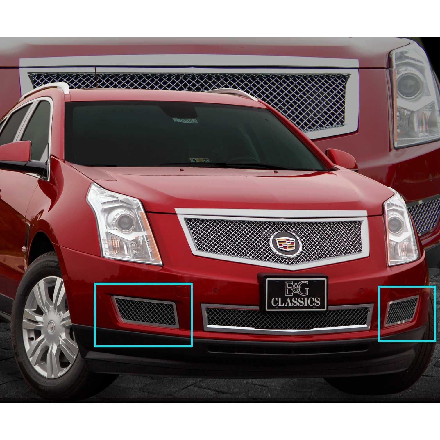 hight resolution of e g classics 2010 2015 cadillac srx accessories front brake duct covers fine mesh black ice 1003 b10w 10