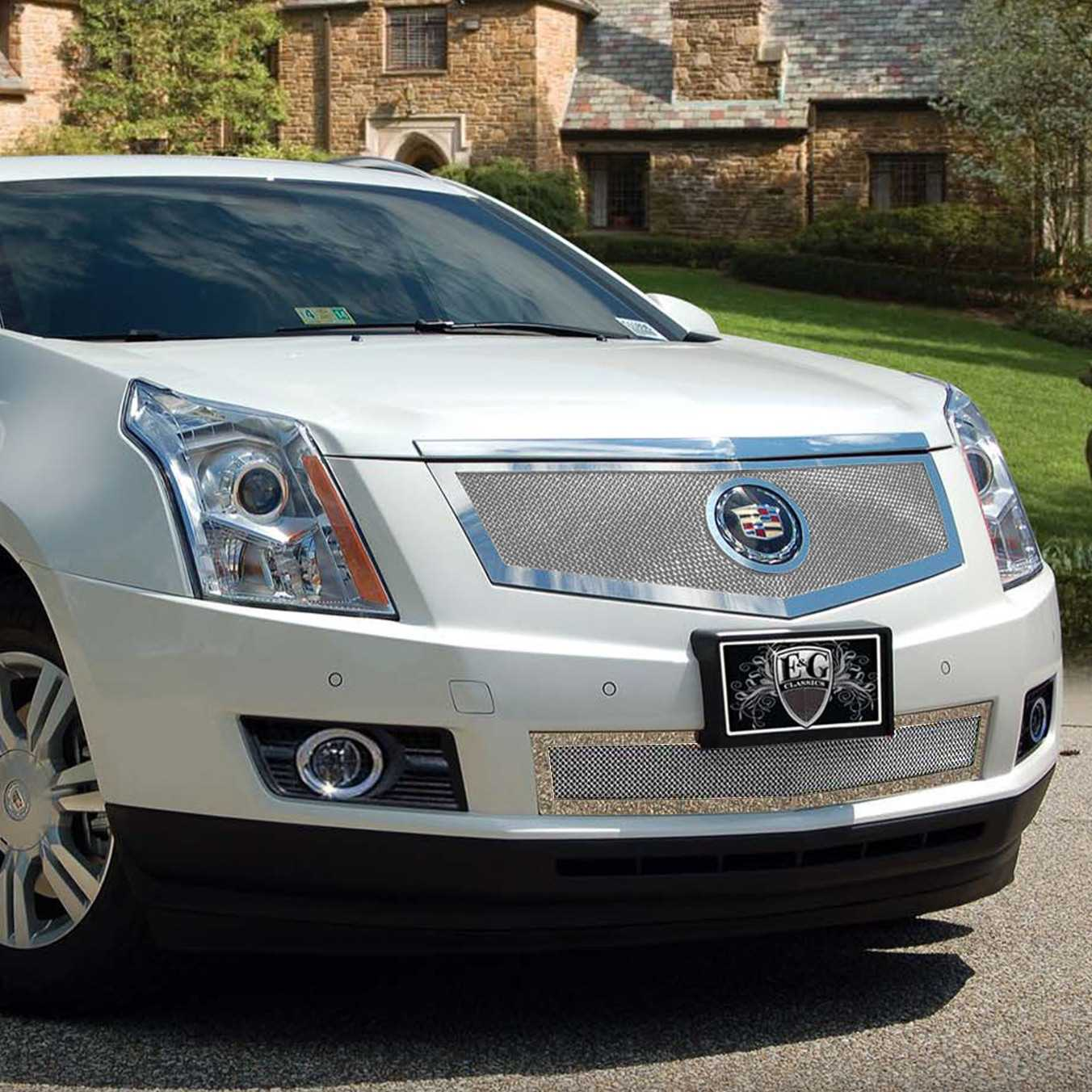 hight resolution of e g classics 2013 2016 cadillac srx grille 2 pc fine mesh grille 1003 0102 13msac