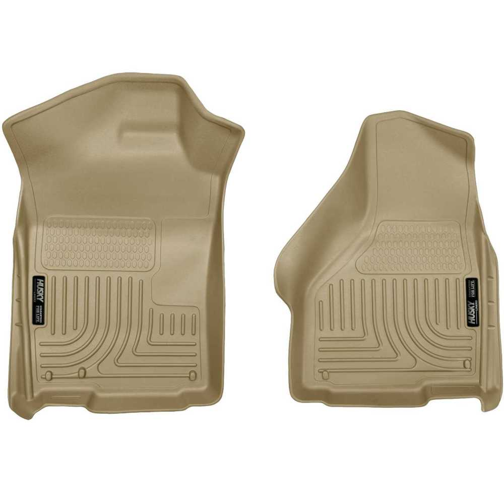 medium resolution of husky liners 18033 2002 2008 dodge ram 1500 quad cab pickup weatherbeater 2 pcs front row tan