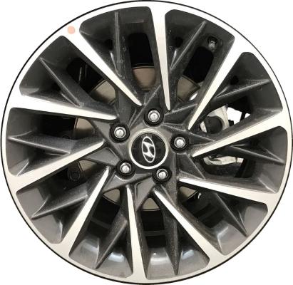 2013 hyundai sonata on 20 elure 031 rims with 225 30 20. Aly70985u35hh Hyundai Sonata Wheel Grey Machined 52910l0310