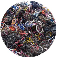 donate and recycle bikes