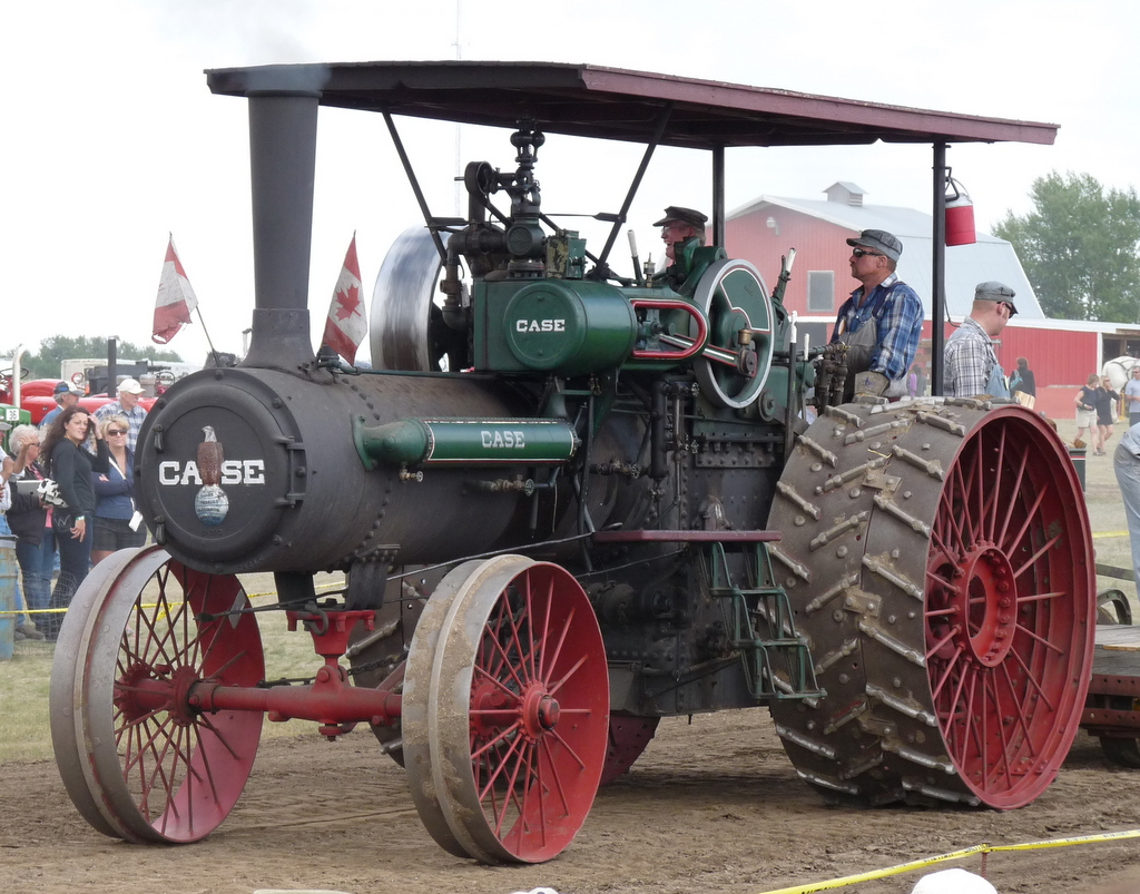 picture of older Case tractor